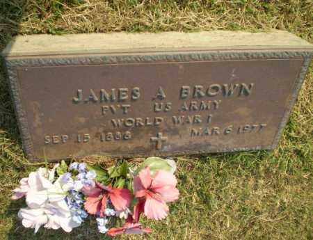 BROWN  (VETERAN WWI), JAMES A - Greene County, Arkansas | JAMES A BROWN  (VETERAN WWI) - Arkansas Gravestone Photos