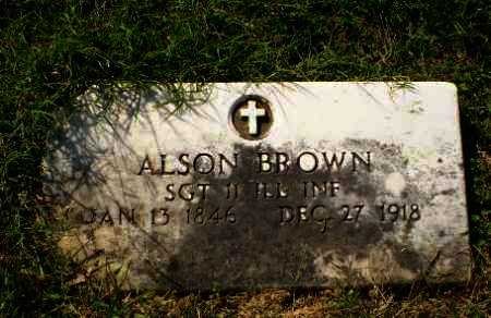 BROWN (VETERAN UNION), ALSON - Greene County, Arkansas | ALSON BROWN (VETERAN UNION) - Arkansas Gravestone Photos