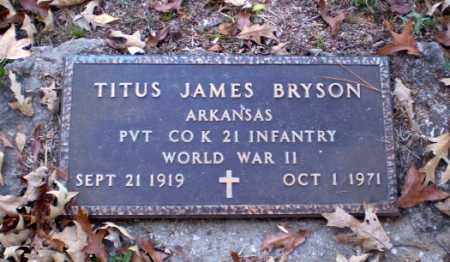 BRYSON (VETERAN WWII), TITUS JAMES - Greene County, Arkansas | TITUS JAMES BRYSON (VETERAN WWII) - Arkansas Gravestone Photos