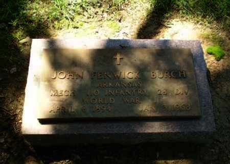 BURCH  (VETERAN WWI), JOHN FENWICK - Greene County, Arkansas | JOHN FENWICK BURCH  (VETERAN WWI) - Arkansas Gravestone Photos