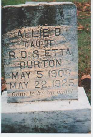 BURTON, ALLIE B. - Greene County, Arkansas | ALLIE B. BURTON - Arkansas Gravestone Photos