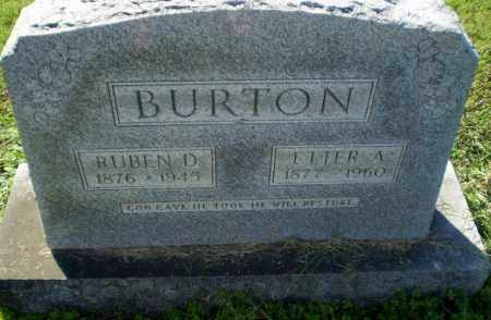 BURTON, RUBEN D - Greene County, Arkansas | RUBEN D BURTON - Arkansas Gravestone Photos