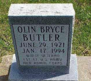 BUTLER (VETERAN WWII), OLIN BRYCE - Greene County, Arkansas | OLIN BRYCE BUTLER (VETERAN WWII) - Arkansas Gravestone Photos