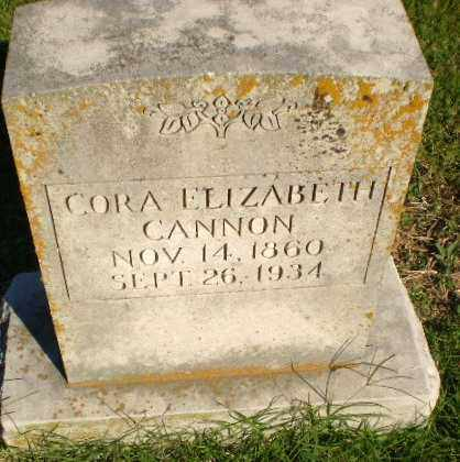 CANNON, CORA ELIZABETH - Greene County, Arkansas | CORA ELIZABETH CANNON - Arkansas Gravestone Photos
