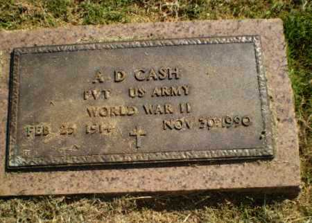 CASH  (VETERAN WWII), A D - Greene County, Arkansas | A D CASH  (VETERAN WWII) - Arkansas Gravestone Photos