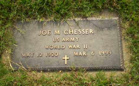 CHESSER  (VETERAN WWII), JOE M - Greene County, Arkansas | JOE M CHESSER  (VETERAN WWII) - Arkansas Gravestone Photos