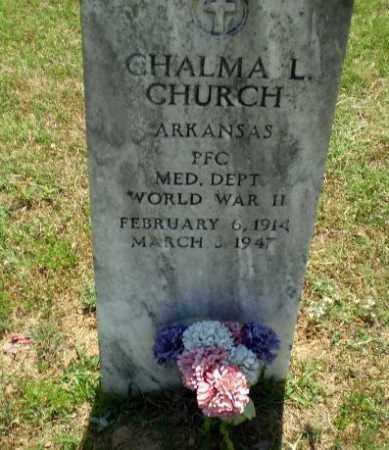 CHURCH  (VETERAN WWII), CHALMA L - Greene County, Arkansas | CHALMA L CHURCH  (VETERAN WWII) - Arkansas Gravestone Photos