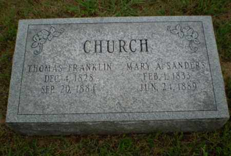 CHURCH, THOMAS FRANKLIN - Greene County, Arkansas | THOMAS FRANKLIN CHURCH - Arkansas Gravestone Photos