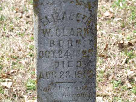 CLARK, ELIZABETH W. - Greene County, Arkansas | ELIZABETH W. CLARK - Arkansas Gravestone Photos