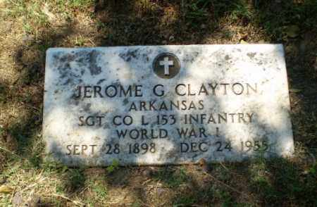 CLAYTON  (VETERAN WWI), JEROME G - Greene County, Arkansas | JEROME G CLAYTON  (VETERAN WWI) - Arkansas Gravestone Photos