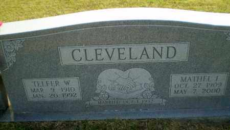 CLEVELAND, TELFER W - Greene County, Arkansas | TELFER W CLEVELAND - Arkansas Gravestone Photos