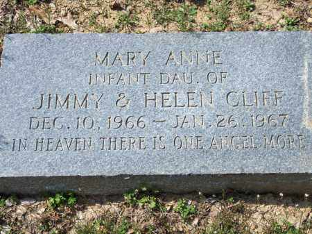 CLIFF, MARY ANNE - Greene County, Arkansas | MARY ANNE CLIFF - Arkansas Gravestone Photos