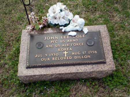 COLE  (VETERAN KOR), JOHN LEE - Greene County, Arkansas | JOHN LEE COLE  (VETERAN KOR) - Arkansas Gravestone Photos