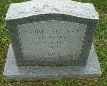 COLEMAN, NAOMI E - Greene County, Arkansas | NAOMI E COLEMAN - Arkansas Gravestone Photos