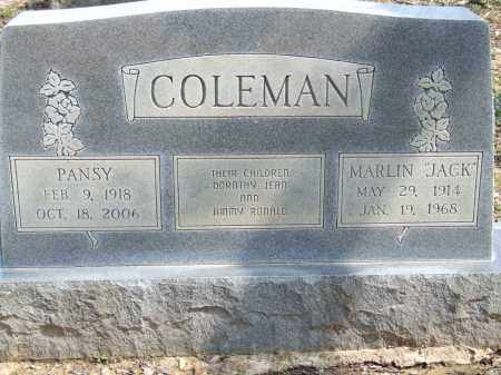 COLEMAN, PANSY - Greene County, Arkansas | PANSY COLEMAN - Arkansas Gravestone Photos
