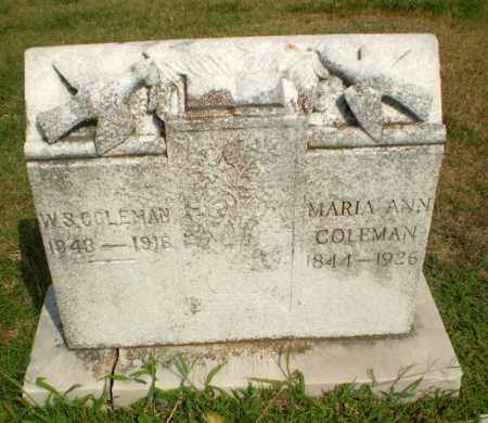 COLEMAN, MARIA ANN - Greene County, Arkansas | MARIA ANN COLEMAN - Arkansas Gravestone Photos