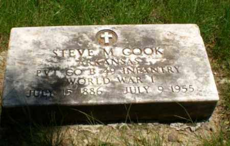 COOK  (VETERAN WWI), STEVE M - Greene County, Arkansas | STEVE M COOK  (VETERAN WWI) - Arkansas Gravestone Photos