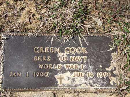 COOK (VETERAN WWI), GREEN - Greene County, Arkansas | GREEN COOK (VETERAN WWI) - Arkansas Gravestone Photos