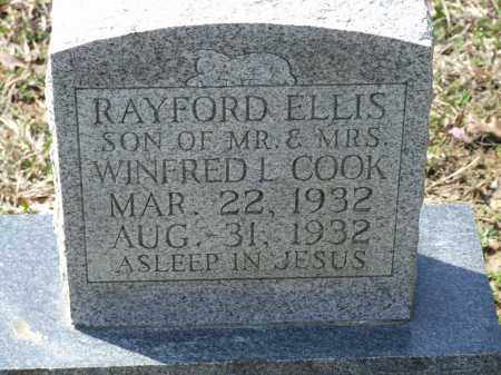 COOK, RAYFORD ELLIS - Greene County, Arkansas | RAYFORD ELLIS COOK - Arkansas Gravestone Photos