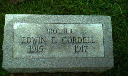 CORDELL, EDWIN E - Greene County, Arkansas | EDWIN E CORDELL - Arkansas Gravestone Photos