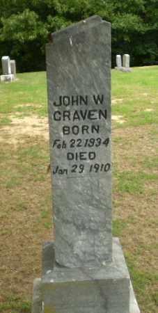 CRAVEN, JOHN W - Greene County, Arkansas | JOHN W CRAVEN - Arkansas Gravestone Photos