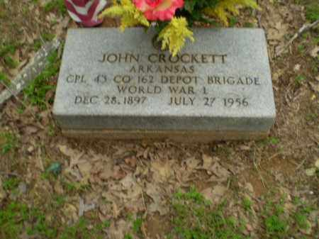 CROCKETT  (VETERAN WWI), JOHN - Greene County, Arkansas | JOHN CROCKETT  (VETERAN WWI) - Arkansas Gravestone Photos