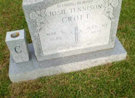 TENNISON CROFT, JOSIE - Greene County, Arkansas | JOSIE TENNISON CROFT - Arkansas Gravestone Photos