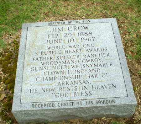 "CROW  (VETERAN WWI), JAMES SHELTON ""JIM"" - Greene County, Arkansas 