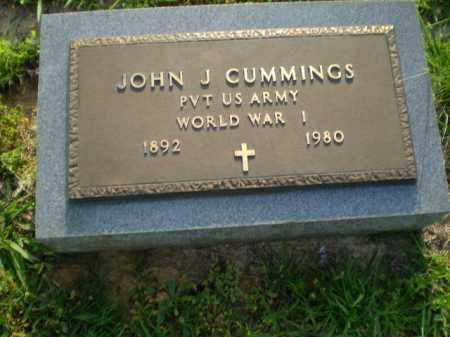 CUMMINGS  (VETERAN WWI), JOHN J - Greene County, Arkansas | JOHN J CUMMINGS  (VETERAN WWI) - Arkansas Gravestone Photos