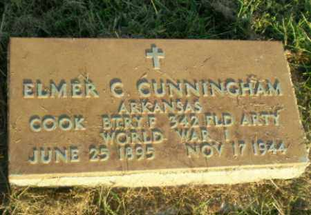 CUNNINGHAM (VETERAN WWI), ELMER C - Greene County, Arkansas | ELMER C CUNNINGHAM (VETERAN WWI) - Arkansas Gravestone Photos