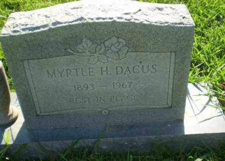 DACUS, MYRTLE H - Greene County, Arkansas | MYRTLE H DACUS - Arkansas Gravestone Photos