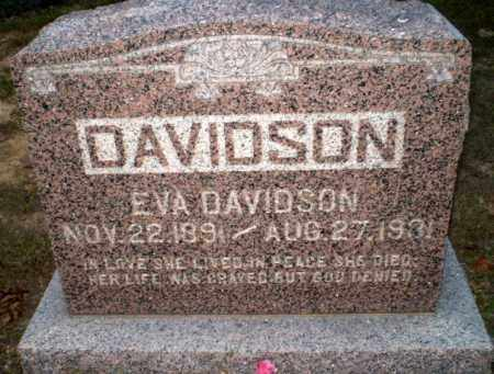DAVIDSON, EVA - Greene County, Arkansas | EVA DAVIDSON - Arkansas Gravestone Photos