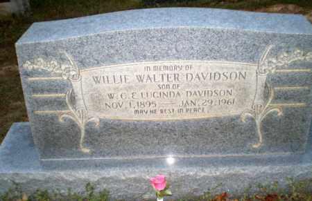 DAVIDSON, WILLIE WALTER - Greene County, Arkansas | WILLIE WALTER DAVIDSON - Arkansas Gravestone Photos