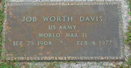 DAVIS (VETERAN WWII), JOB WORTH - Greene County, Arkansas | JOB WORTH DAVIS (VETERAN WWII) - Arkansas Gravestone Photos