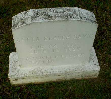 DAVIS, ZETTA  BLANCH - Greene County, Arkansas | ZETTA  BLANCH DAVIS - Arkansas Gravestone Photos
