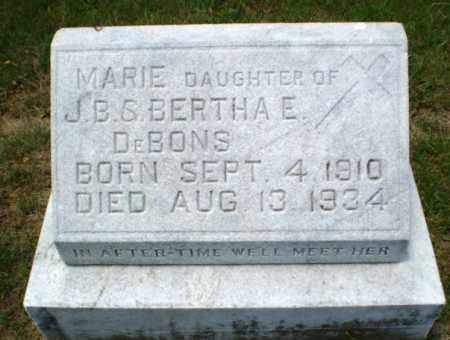 DEBONS, MARIE - Greene County, Arkansas   MARIE DEBONS - Arkansas Gravestone Photos
