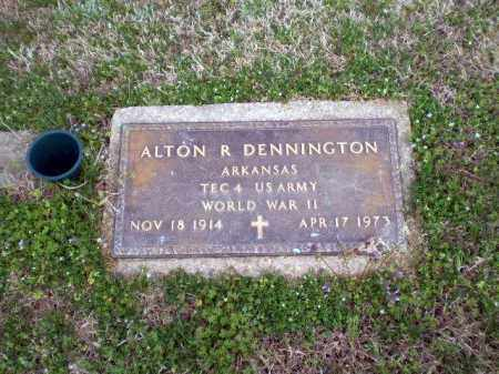 DENNINGTON  (VETERAN WWII), ALTON R. - Greene County, Arkansas | ALTON R. DENNINGTON  (VETERAN WWII) - Arkansas Gravestone Photos