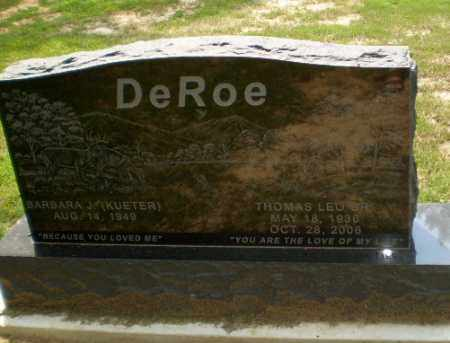 DEROE, THOMAS LEO - Greene County, Arkansas | THOMAS LEO DEROE - Arkansas Gravestone Photos