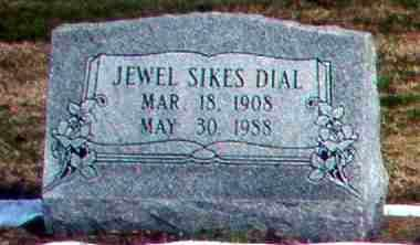 SIKES DIAL, JEWEL - Greene County, Arkansas | JEWEL SIKES DIAL - Arkansas Gravestone Photos
