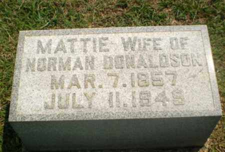 DONALDSON, MATTIE - Greene County, Arkansas | MATTIE DONALDSON - Arkansas Gravestone Photos