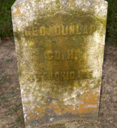 DUNLAP  (VETERAN UNION), GEORGE - Greene County, Arkansas | GEORGE DUNLAP  (VETERAN UNION) - Arkansas Gravestone Photos