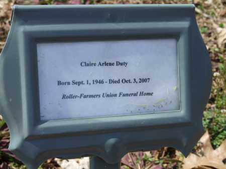 DUTY, CLAIRE ARLENE - Greene County, Arkansas | CLAIRE ARLENE DUTY - Arkansas Gravestone Photos