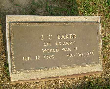 EAKER  (VETERAN WWII), J.C. - Greene County, Arkansas | J.C. EAKER  (VETERAN WWII) - Arkansas Gravestone Photos