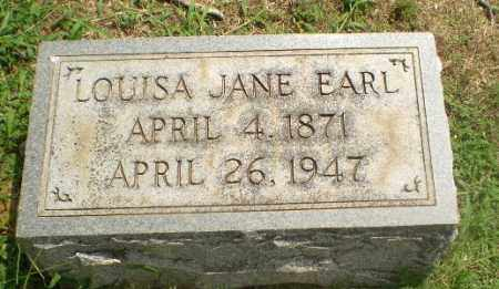 EARL, LOUISA JANE - Greene County, Arkansas | LOUISA JANE EARL - Arkansas Gravestone Photos