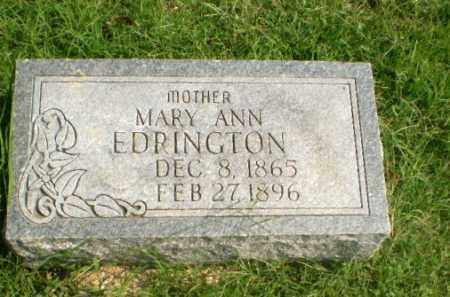 EDRINGTON, MARY ANN - Greene County, Arkansas | MARY ANN EDRINGTON - Arkansas Gravestone Photos