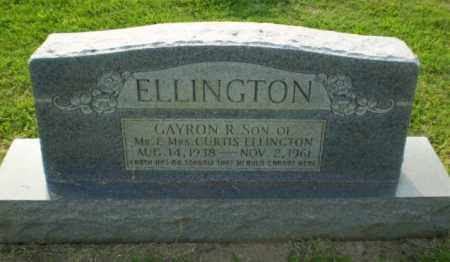 ELLINGTON, GAYRON R - Greene County, Arkansas | GAYRON R ELLINGTON - Arkansas Gravestone Photos