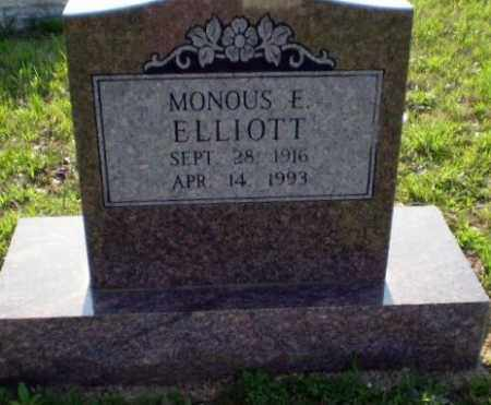 ELLIOTT, MONOUS E. - Greene County, Arkansas | MONOUS E. ELLIOTT - Arkansas Gravestone Photos