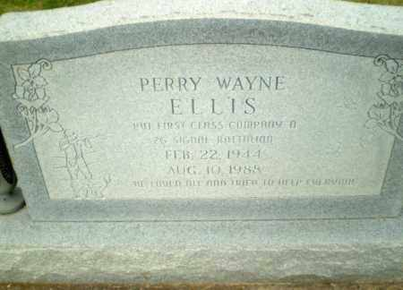 ELLIS  (VETERAN), PERRY WAYNE - Greene County, Arkansas | PERRY WAYNE ELLIS  (VETERAN) - Arkansas Gravestone Photos
