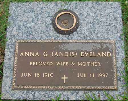 EVELAND, ANNA GEORGIA - Greene County, Arkansas | ANNA GEORGIA EVELAND - Arkansas Gravestone Photos