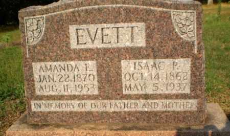 EVETT, ISAAC P - Greene County, Arkansas | ISAAC P EVETT - Arkansas Gravestone Photos